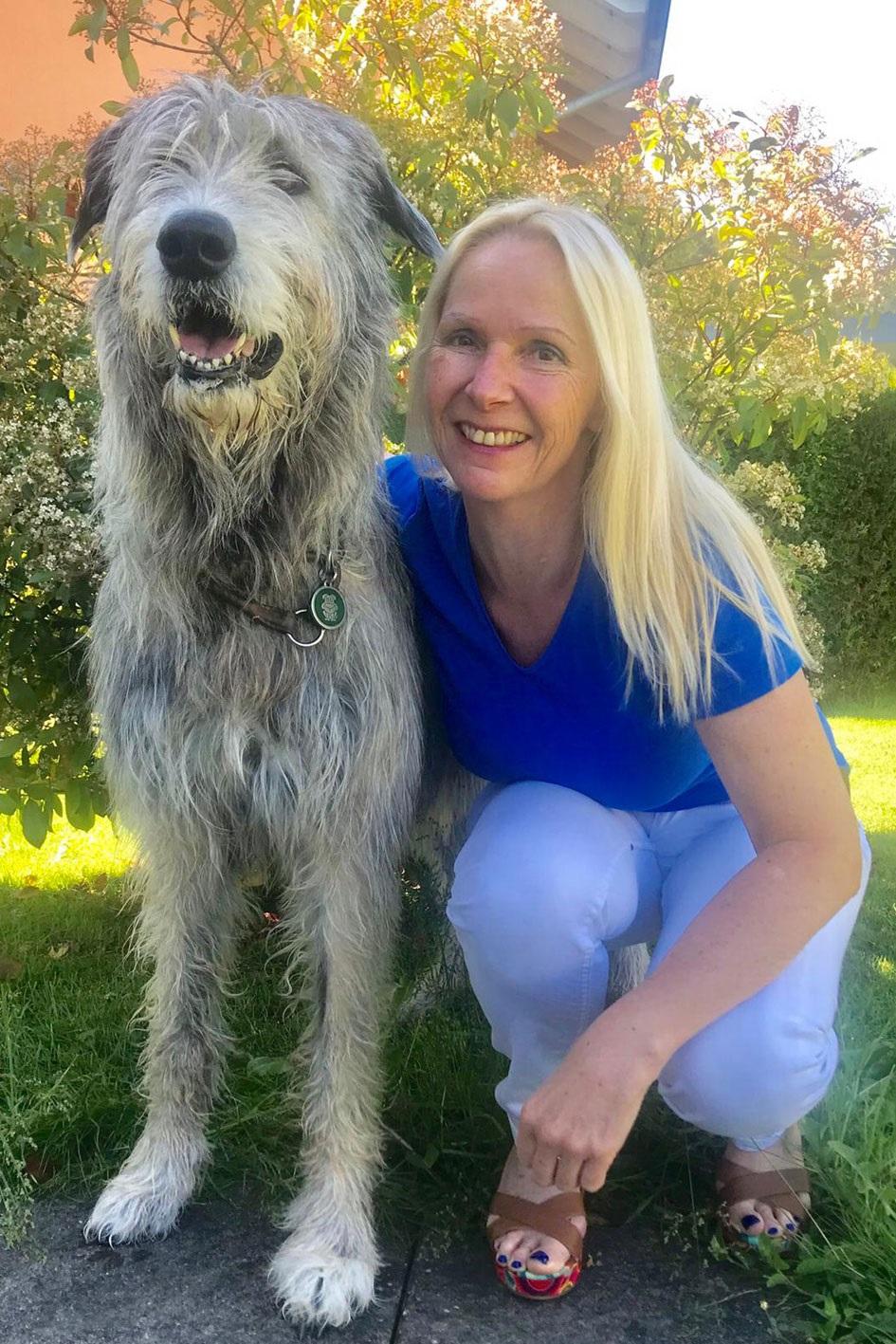 Anja Zydeck mit ihrem Hund