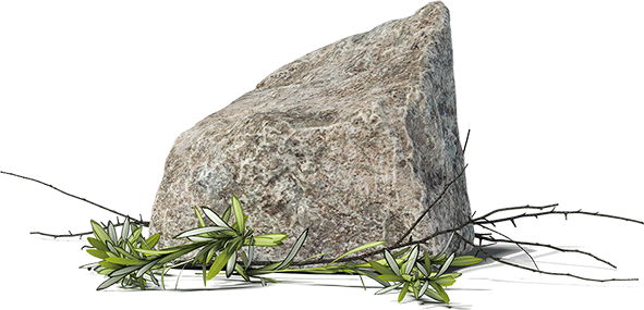 unförmiger Stein