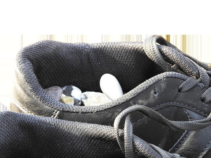 Steine im Schuh